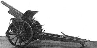 10.5 cm leFH 16 - A captured leFH 16 in the United States, July 1921