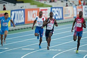 Ronald Pognon - Image: 100 m semifinals Barcelone 2010