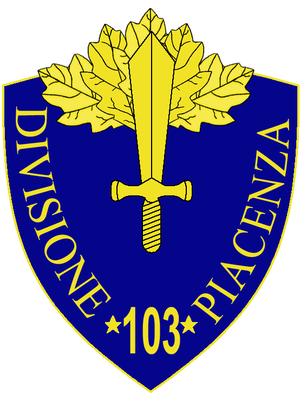 103rd Infantry Division Piacenza - 103rd Infantry Division Piacenza Insignia