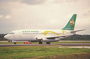 Eastwind Airlines - Eastwind Boeing 737-200 (N221US) seen at Tampa International Airport two years after Flight 517.