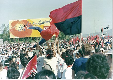 10th anniversary of the Nicaraguan revolution in Managua, 1989 10th anniversary of the Nicaraguan revolution in Managua, 1989.jpg