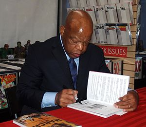 Top Shelf Productions - Congressman John Lewis at a signing for his graphic novel autobiography by Top Shelf, March.