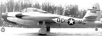 121st Fighter Squadron - 121st Fighter Squadron Republic F-84C Thunderjet 47-1499, about 1950