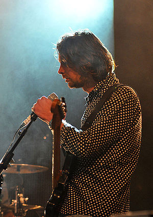 Cut Copy - Tim Hoey performing with Cut Copy at Paaspop 2014 in Schijndel, Netherlands