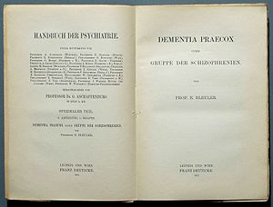 Dementia praecox - An article by Eugen Bleuler on dementia praecox (1911)