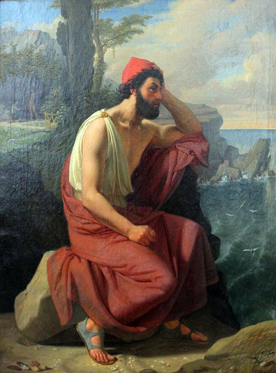 Ulysse sur l'île de Calypso, peinture de Detlev Conrad Blunck