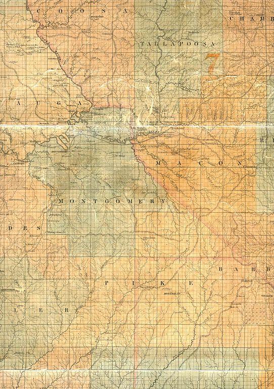West Alabama University >> File:1840 Map of Montgomery County, Alabama.jpeg ...