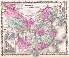 1862 Johnson Map of China - Geographicus - China-johnson-1862.jpg