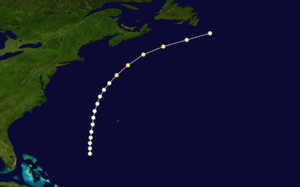 1868 Atlantic hurricane season - Image: 1868 Atlantic hurricane 1 track