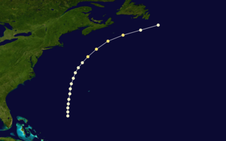 1868 Atlantic hurricane season - Image: 1868 Atlantic hurricane 1 track