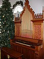 1870 Derrick Felgemaker pipe organ and door window, Brush Creek - Salem U.C.C.jpg