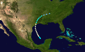 1891 Atlantic hurricane season - Image: 1891 Atlantic hurricane 1 track