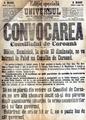 1916 - Anunt de convocare a Consiliului de coroana ziarul Universul din 13 august 1916 I.png