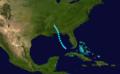 1919 Atlantic tropical storm 1 track.png