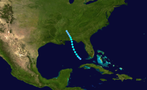 1919 Atlantic hurricane season - Image: 1919 Atlantic tropical storm 1 track
