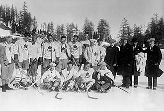 Ice hockey at the 1928 Winter Olympics - Image: 1928 Canada Olympic Hockey Team