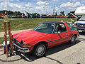 1976 AMC Pacer DL coupe in red with black at AMO 2015 meet 1of7.jpg