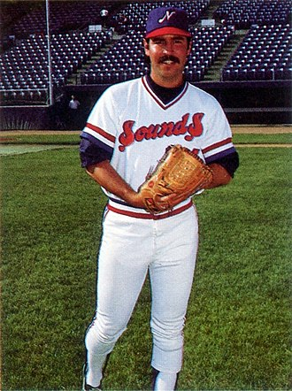 Steve Shirley (baseball) - Shirley with the Nashville Sounds in 1985