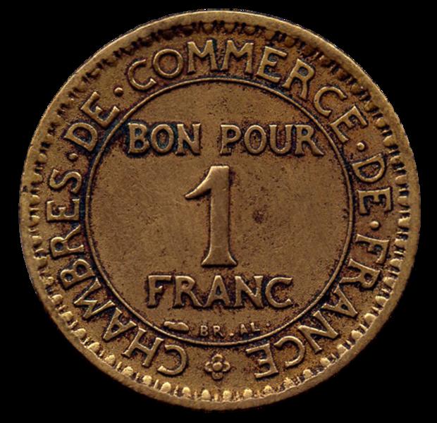 File 1 franc chambre du commerce wikimedia - Chambre du commerce chambery ...