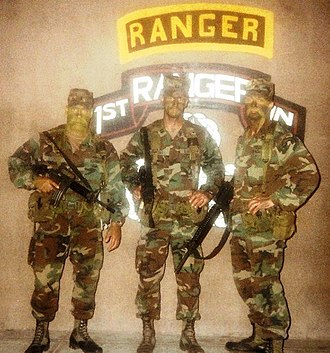 75th Ranger Regiment (United States) - Rangers from 1/75 during a training exercise 1989-1990 1LT Joe Yorio, CPT Jeff Jarkowsky and SSG Paul Johnson