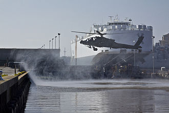 Port of Beaumont - 1st Air Cavalry Brigade takes 'birds' (helicopters) to Port of Beaumont