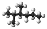 Ball and stick model of 2,3-dimethylhexane