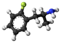 2-Fluoroamphetamine molecule ball.png