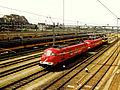 20010708 Maastricht; trains at Station Maastricht; rail yard..jpg