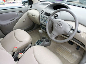 Toyota Vitz   The Vitz Shares A Common Interior Design With The Closely  Related Toyota Platz