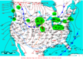 2009-01-12 Surface Weather Map NOAA.png