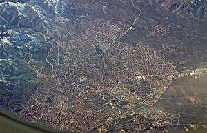 Isparta - Isparta from the air (February 2011)
