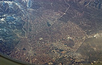 Isparta - Isparta from the air (February 2011)