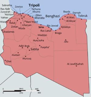 Национальный переходный совет (Переходный национальный совет Ливийской Республики), карта