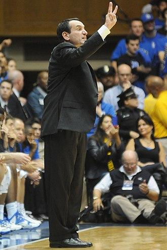 Mike Krzyzewski - Krzyzewski coaching during a 2013 game