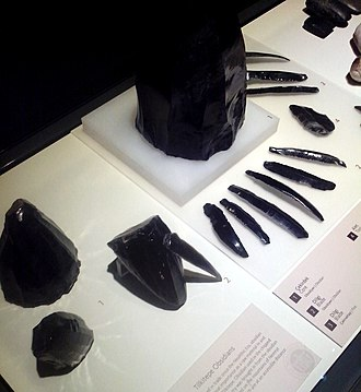 Obsidian - Obsidian tools from Tilkitepe, Turkey, 5th millennium BC. Museum of Anatolian Civilizations