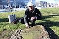 2015-02-17 Alter St.-Nikolai-Friedhof (Hannover), Reinigung Grabmal Jean Joseph La Croix (Fred Jaugstetter und Bernd Schwabe), (20).jpg