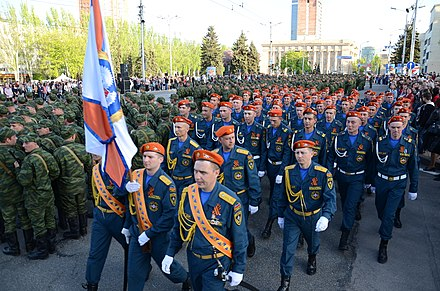 Rebel units during a Victory Day military parade in Donetsk 2015-05-07. Repetitsiia parada Pobedy v Donetske 178.jpg