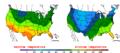 2015-10-28 Color Max-min Temperature Map NOAA.png