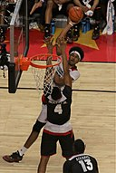 20160330 MCDAAG Jarrett Allen shoots over Tony Bradley Jr.jpg