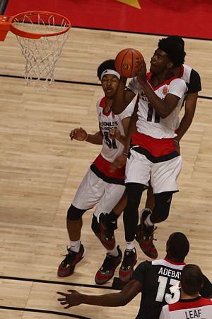 Josh Jackson (basketball) - Jackson drives to the basket in the 2016 McDonald's All-American Game