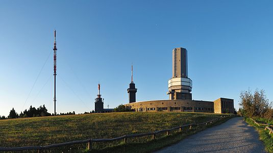 Buildings and towers on the Großer Feldberg, Taunus