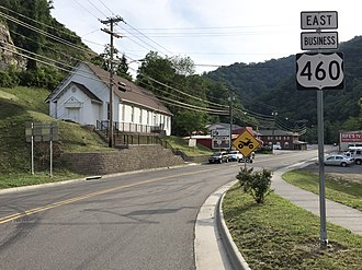 Special routes of U.S. Route 460 - US 460 Bus in Grundy