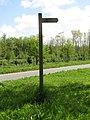 2018-05-10 Footpath sign, Woodland footpath, Hanworth.JPG