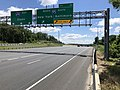 2019-06-14 13 03 45 View east along the Inner Loop of the Baltimore Beltway (Interstate 695) at Exit 33 (Interstate 95, Baltimore, New York) on the edge of Rosedale and Rossville in Baltimore County, Maryland.jpg