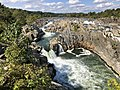 2019-09-07 15 13 48 View north towards the Great Falls of the Potomac River from Overlook 1 about 100 feet downstream of the falls within Great Falls Park in Great Falls, Fairfax County, Virginia.jpg