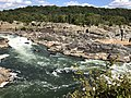 2019-09-07 15 13 55 View east-northeast towards the Great Falls of the Potomac River from Overlook 1 about 100 feet downstream of the falls within Great Falls Park in Great Falls, Fairfax County, Virginia.jpg