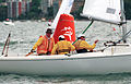 231000 - Sailing sonar Jamie Dunross Noel Robins Graeme Martin action 2 - 3b - 2000 Sydney race photo.jpg
