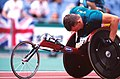 301000 - Athletics wheelchair racing Kurt Fearnley action - 3b - 2000 Sydney race photo.jpg