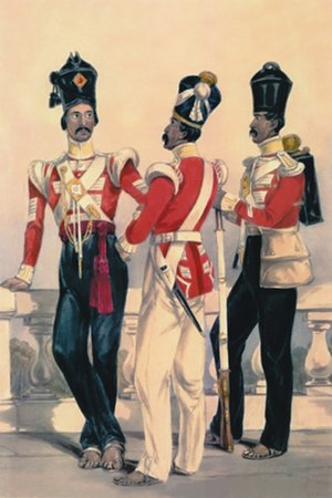 92nd Punjabis - Image: 32nd Madras Native Infantry, 1850