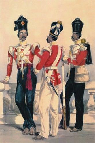 92nd Punjabis - Image: 32nd Madras Native Infantry, 1850